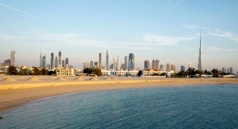 aut. Paul Wilhelm, Dubaj przed zachodem słońca