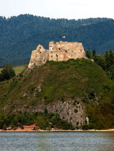 Ruiny zamku w Czorsztynie, aut. Adam Kumiszcza