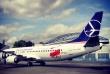 Samolot lot w olimpijskich barwach