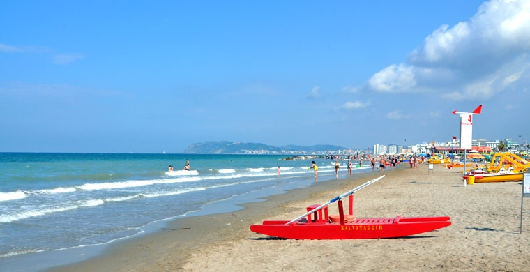 Plaża Misano Adriatico, Turystyka