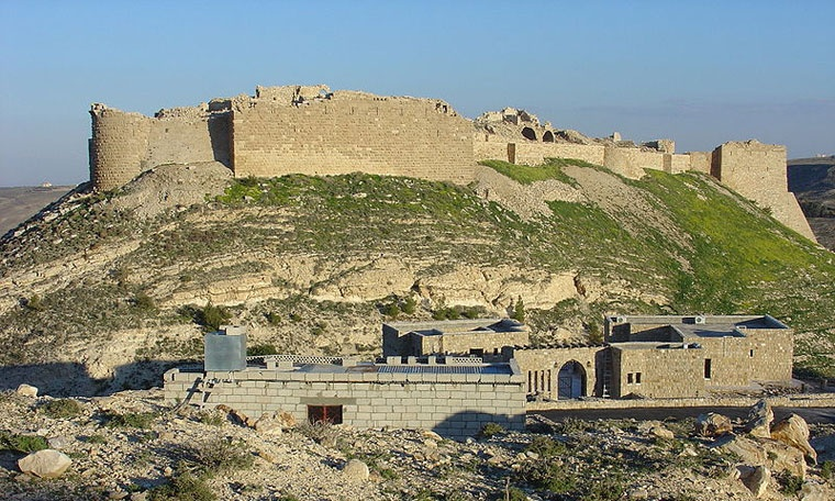 Zamek Shobak w Jordanii, zdjęcie z 2005 roku