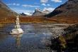 Krajobraz w Norwegii, fiord rano