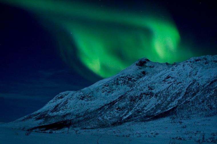 Aurora borealis - zorza polarna w Norwegii