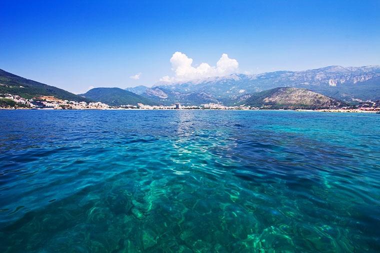 Panorama na miejscowość wypoczynkową - Budva, Czarnogóra