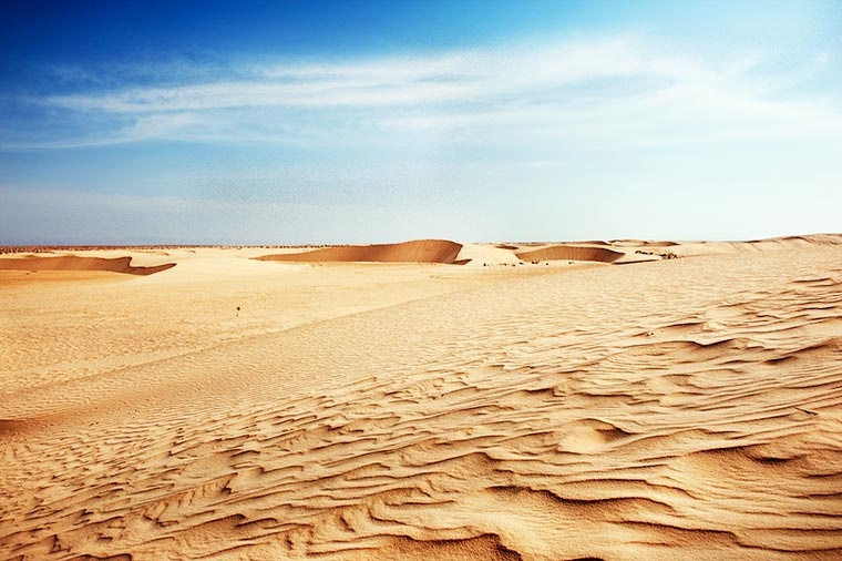 Piękne wydmy Sahary, Tunezja