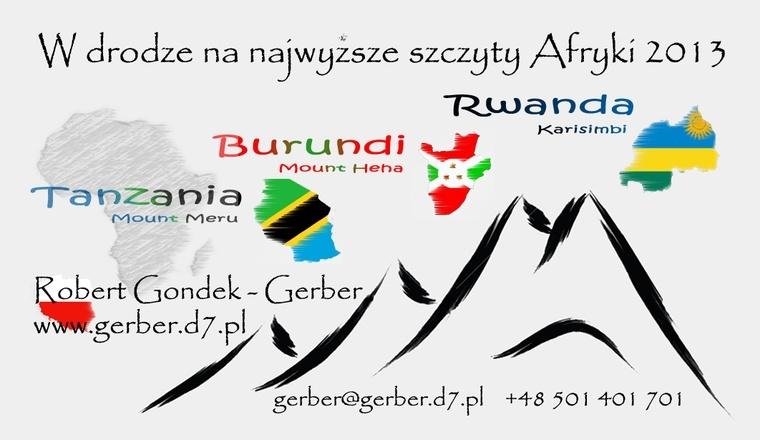 W drodze na najwyższe szczyty Afryki 2013