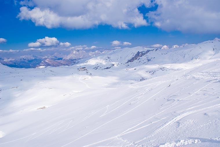 Płaskowyż Pale di San Martino w Dolomitach, Włochy