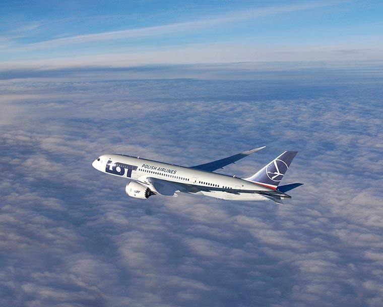 Boeing 787 Dreamliner, PLL LOT, Podróże
