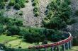 Bernina Express na wiadukcie spiralnym Brusio