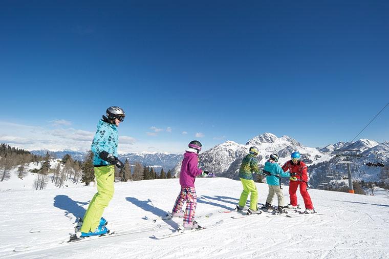 Karyntia, rodzina na nartach