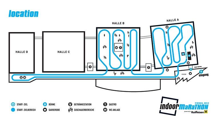 Wiedeński Maraton Halowy - plan trasy