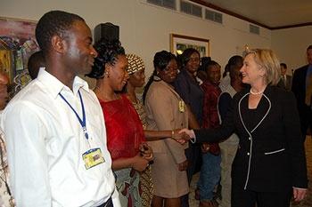 Hillary Clinton w Liberii