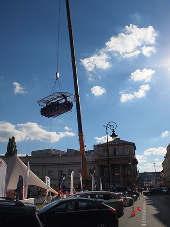 Dinner in the Sky, Warszawa