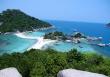Koh Nang Yuan, mała wyspa Koh Tao. Właściwie są to 3 wyspy połączone plażą, Tajlandia