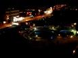 Egipt, Hurghada - Widok z okna pokoju hotelu w nocy - Wycieczka objazdowa - Egipt