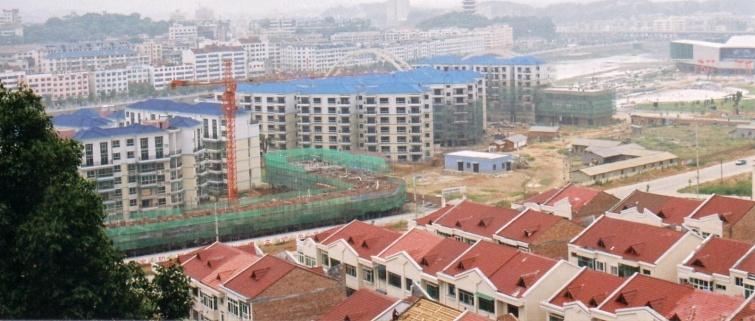 Panorama na nową część miasta - Liuyang - Chiny