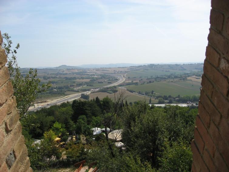 Panorama Gradary  - Gradara - Włochy