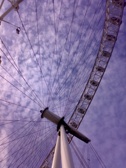 London Eye z bliska - Londyn - Anglia