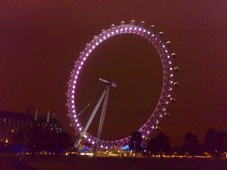 Nocne London Eye - Londyn - Anglia