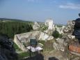 Scena na terenie zamku - Ogrodzieniec - Polska