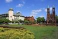 Widok na Plac Jana Pawła II - Żyrardów dzisiejszy - Polska