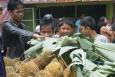Duriany na Targu - Sumatra - Indonezja