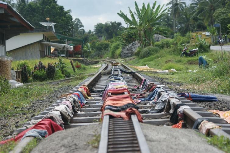 Suszenie ... prania - Sumatra - Indonezja