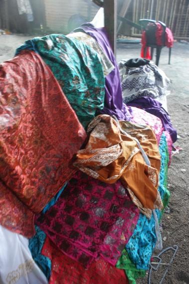 kolorowe tkaniny - Kota Bahru - Malezja