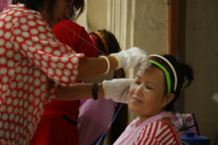 Zakład kosmetyczny na ulicy - Bangkok - Tajlandia