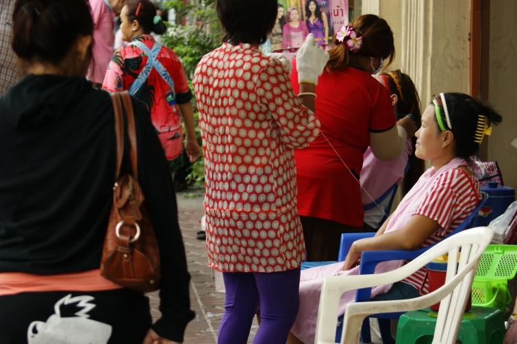 maseczka na ulicy - Bangkok - Tajlandia