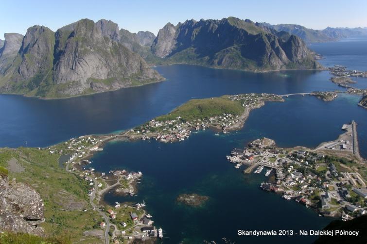 Widok na Reine i Lofoty - Lofoty - Norwegia