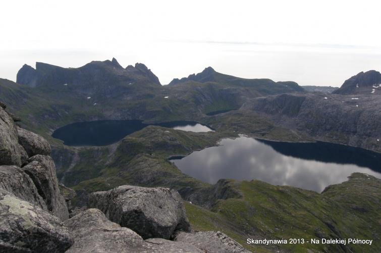 Widok ze szczytu Hermansdalstinden - Lofoty - Norwegia