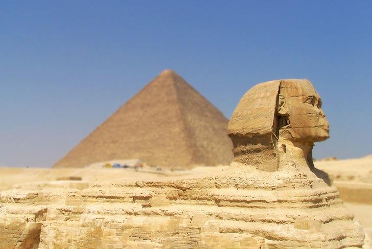 Sfinks, Piramidy - Egipt - Egipt