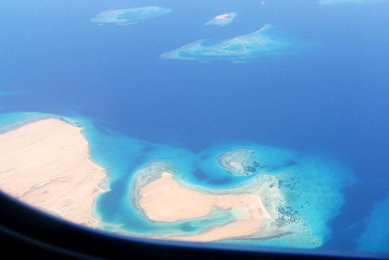 Widok z samolotu, Egipt - Egipt