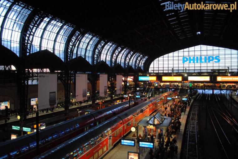 Hamburg - dworzec kolejowy - Niemcy – relacje z podróży