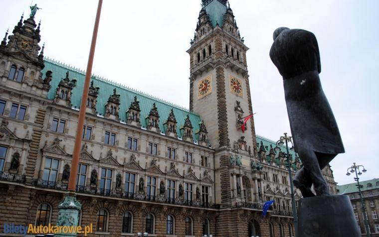 Hamburg - ratusz - Niemcy – relacje z podróży